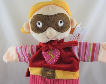 Fun Super Hero Girl Glove Puppet - New with Tags