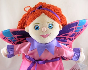 Fairy Girl with wings - Story Telling Glove Hand Puppet- New with Tags