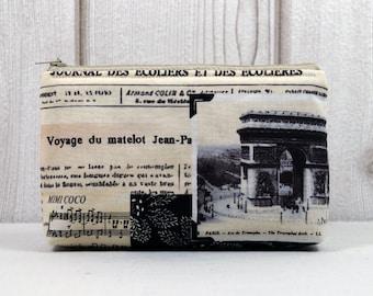 MissICED  •Voyage• beige Mini-Kosmetiktasche kleine Tasche Schmucktasche Make-Up Tasche Beautytasche Universaltasche Geschenkidee Freundin