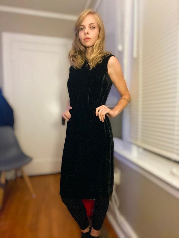 1940's Velvet Cocktail Dress