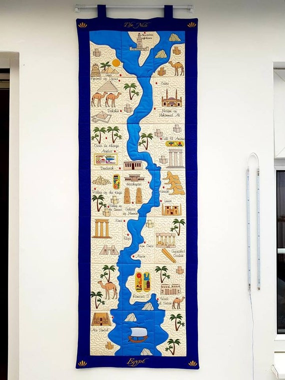 ITH Quilted  Nile Map Machine Embroidery Design