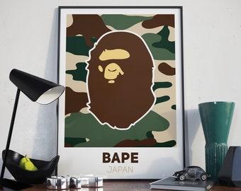 Bape Poster Etsy