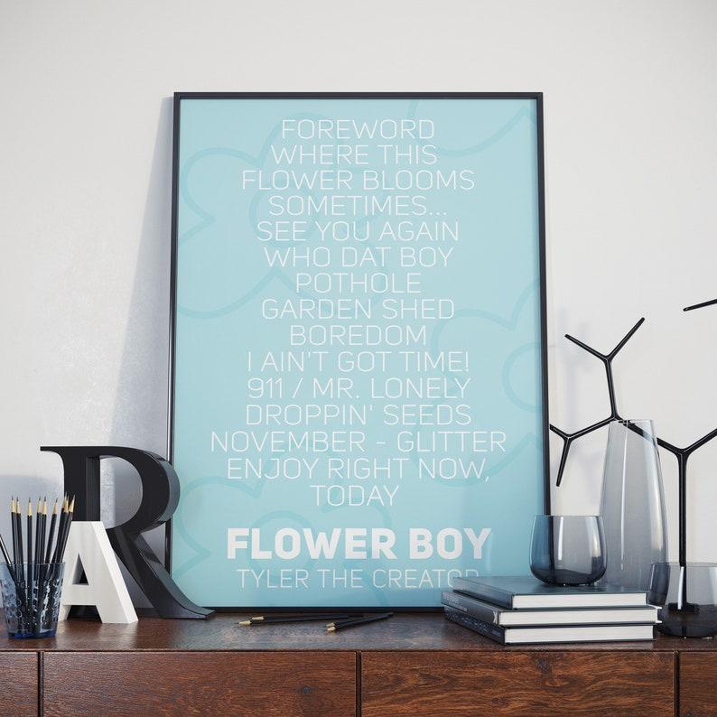 0fd3377005e7fd Tyler The Creator Print Flower Boy Album Poster Tyler The