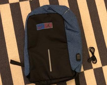 BOOTLEG Nike Air Jordan Backpack bag anti theft USB 90s - size M