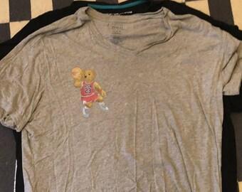 Ralph Lauren polo bear basketball T Shirt Vintage - men Sz XL