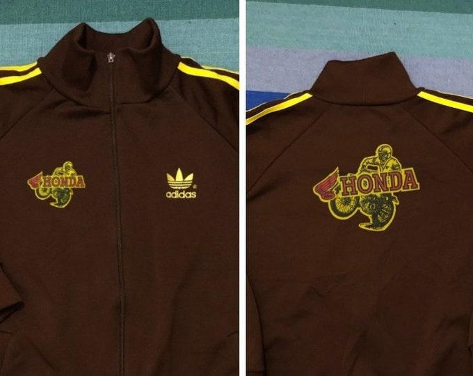 Featured listing image: HONDA Racing Adidas yellow Jacket Vintage 80s Germany RARE - Men Sz Large