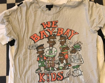 BOOTLEG Black Bart Simpson T Shirt bay bay kids Vintage 90s - men Sz L-XL