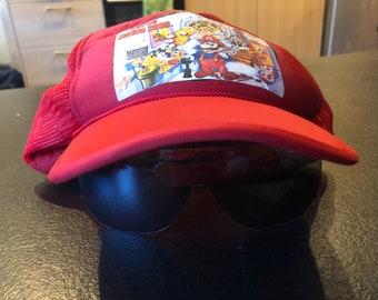 Super Mario Sun Glasses Cap Hat vintage 90s - (Broken)