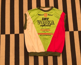 Vodka Vest neon sweatshirt Vintage - Sz men M