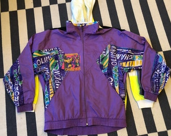 ultimate warrior wwe hulk hogan Vintage windbreaker jacket 90s 80s - men size M