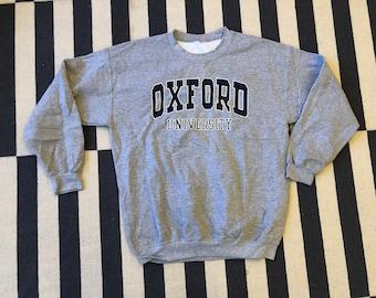 OXFORD UNIVERSITY sweatshirt sweater Vintage - Sz L