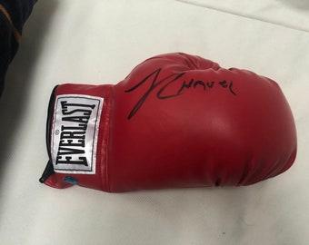 Julio Cesar chavez boxing glove signed Autograph vintage 90s Mexico