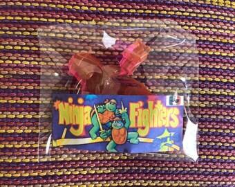 Schrader Ninja Fighters Turtles TMNT Toy SONRICS Mexican Bootleg vintage