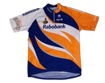 0109669db Cycling jersey shirt vintage Champion JC penney Robobank - Sz L-XL