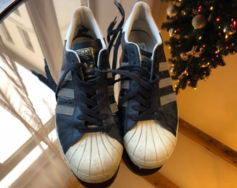 vintage 1999 adidas super star shoes sneakers tennis - size US 9