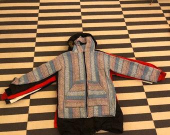 mexico poncho hoodie sweatshirt Vintage 90s 80s - women Sz S
