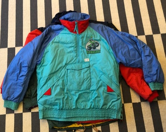 kawasaki motorcycles racing Vintage windbreaker jacket 90s 80s - men size L