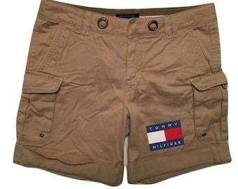 Tommy Hilfiger Women khaki shorts casual Vintage 1999 - sz 4 Women 38 M