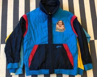 Andy Kaufman Vintage windbreaker jacket 90s 80s - women size M