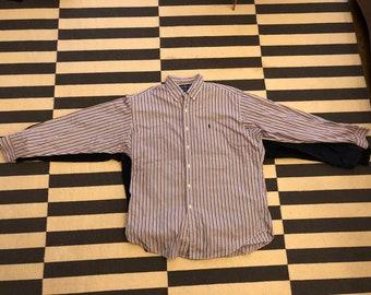 Vintage authentic Polo Ralph Lauren Casual Button Shirt - men Long Sleeve size L
