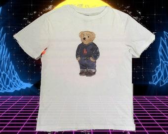 Vintage authentic POLO BEAR by Ralph Lauren White T-Shirt women XS