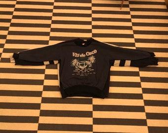 Sweatshirt beach palm Vintage 90s Europe - Sz men S (Nov10)