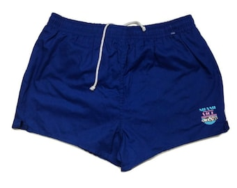 Vintage Miami Vice track Shorts cotton 80s - Sz L men (R)