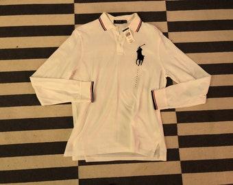 vtg Polo Ralph Lauren Casual Button polo Shirt Long Sleeve men size L