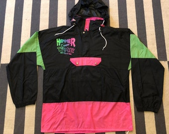 MC Hammer Hammer time hoodie Vintage windbreaker jacket 90s 80s - women size L - men S