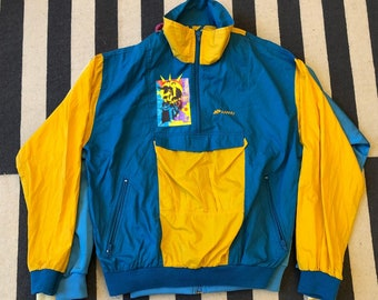 New kids on the block yellow Vintage adidas jacket 90s 80s - men size M