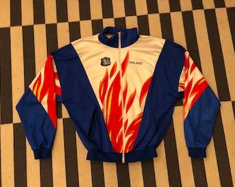 Cycling bike windbreaker Vintage jacket 90s 80s - men size L