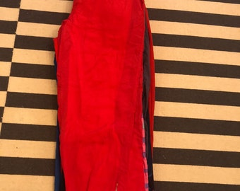 red Germany pants Vintage 90s 80s -  men Sz L