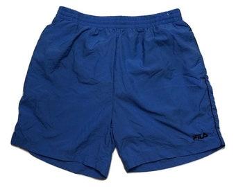 Fila shorts vintage 90s windbreaker swimming - Sz XL