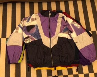 Germany windbreaker Vintage jacket 90s 80s - men size L