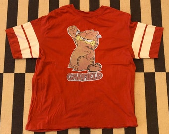 Garfield cat T Shirt shirt Vintage 90s - men Sz XL
