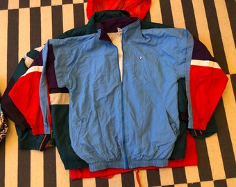 Vintage windbreaker jacket 90s 80s - men size M
