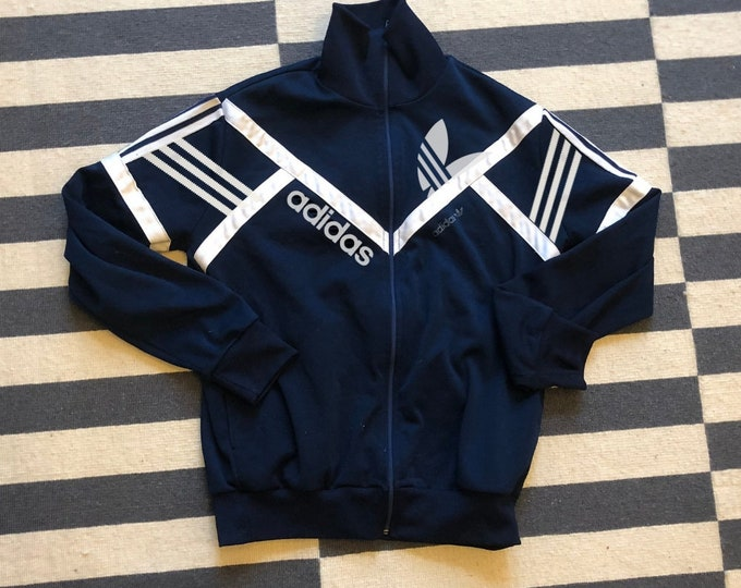 Featured listing image: Adidas Jacket Vintage 90s made in France big logo - Sz women S