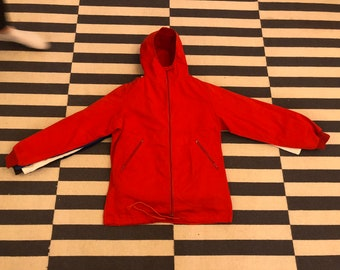 windbreaker jacket hoodie Vintage 90s 80s - women Sz S
