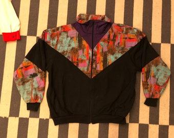 Germany sweatshirt jacket Vintage jacket 90s 80s - men size S