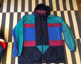 Vintage windbreaker jacket 90s 80s - men size  L