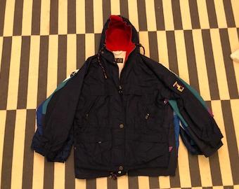 Germany windbreaker Vintage jacket hoodie 90s 80s - men size M