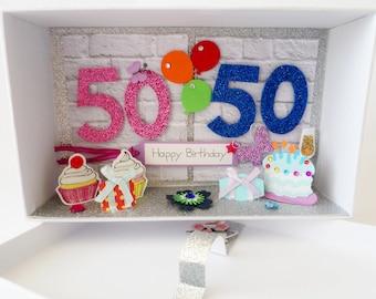 Cash Gift Gift 50th + 50th Birthday