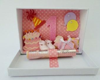 Money gift 1st birthday pink