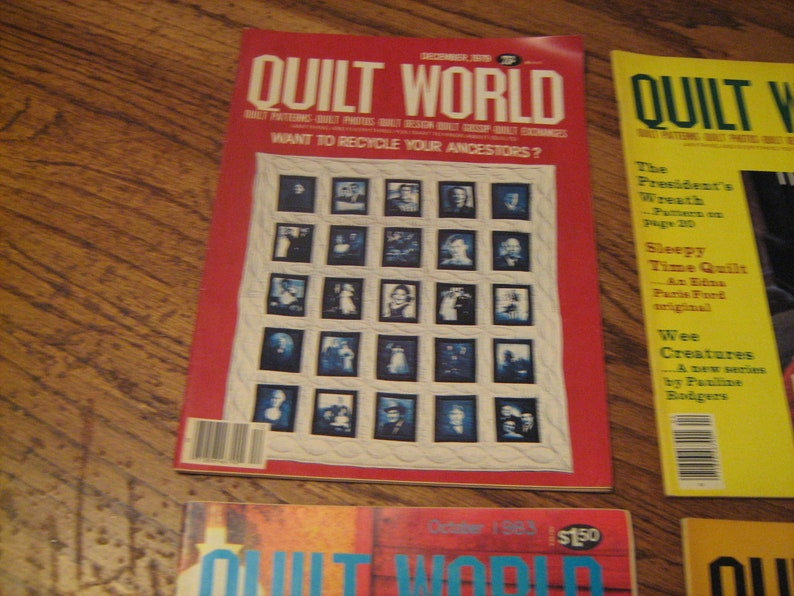 lot.4 lot of 4 1970-80s quilt world magazines