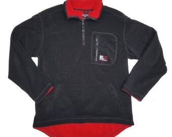 Vintage Polo Jeans Co Ralph Lauren Men s Pull Over Size Large Fleece  Quarter Zip ede65c268b4f