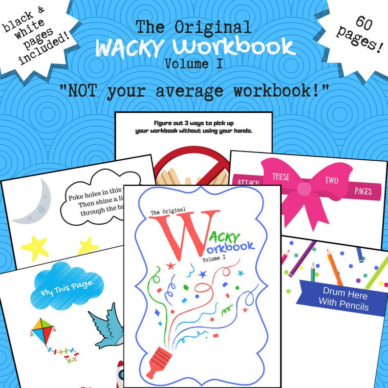 photograph regarding Wreck This Journal Printable Pages identified as The Unique Wacky Workbook Sum 1, Preschool \
