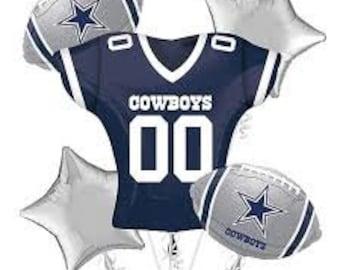 33c1b54d792 cowboys football balloon bouquet, dallas cowboys balloons, cowboys mylar  balloon, dallas party, cowboy football