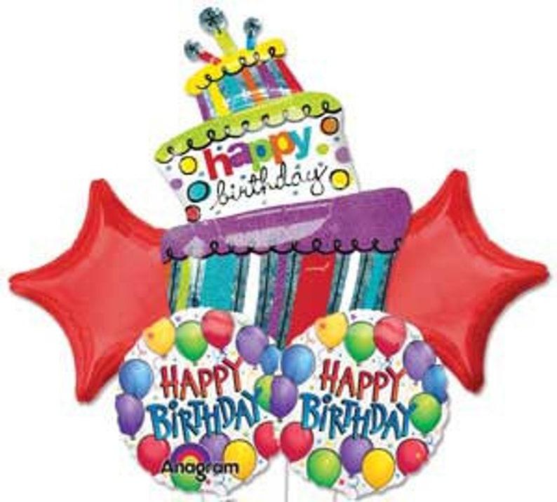 Happy Birthday Balloon Bouquet Balloons