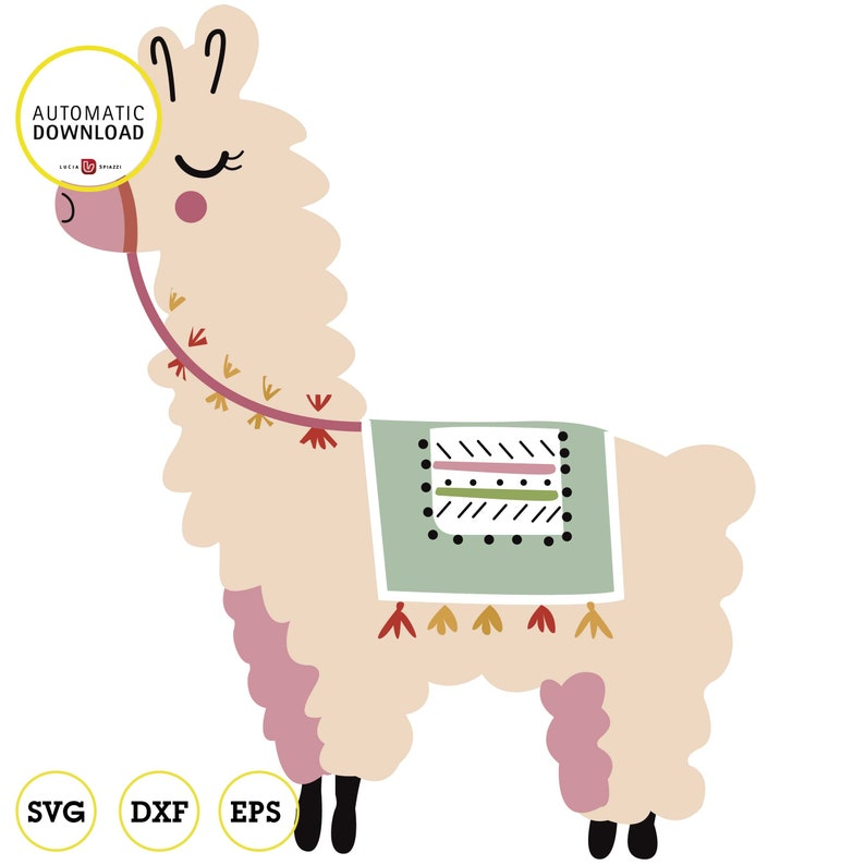 graphic regarding Llama Printable identified as Llama clipart, Llama printable, Alpaca clipart, electronic downloadable, SVG, EPS, DXF, Cricut minimize silhouette for reducing Svg information