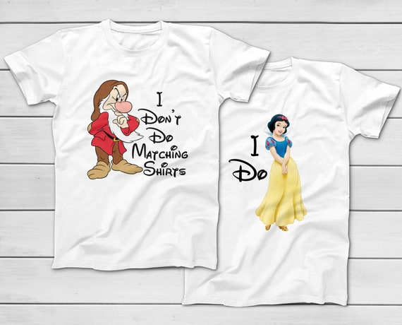 Youth Kids T-Shirt Tee I Don/'t Do Matching Shirts Grumpy Dwarf Snow White